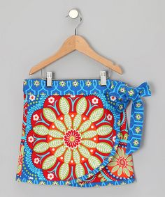 Take a look at this Blue & Red Gypsy 2-Way Wrap Skirt - Toddler & Girls by Sew Me a Memory on #zulily today!