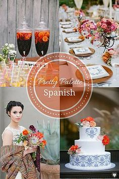 DIY Wedding Planning | Pretty Palettes Spanish wedding colors and palette #boda