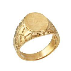 6pc Gold finish ring shanks-867