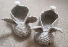 Love these little bunny slippers.