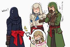 Nice belt you got there Arno lol Assassian Creed, Assassins Creed Memes, Funny Games, Manga, Chibi, Fan Art, Bioshock Infinite, Jessica Nigri, Games