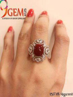 Stunning Red Coral Diamond Ring – Eyes Desire Gems and Jewelry Modern Jewelry, Fine Jewelry, Diamond Jewelry, Jewelry Rings, Ruby Diamond Rings, Uncut Diamond, Diamond Pendant, Faberge Eier, Gold Ring Designs