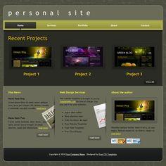 Personal Website Design Templates responsive website