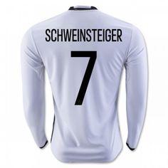 Tyskland 2016 Schweinsteiger 7 Hjemmedrakt Langermet   #billige  #fotballdrakter