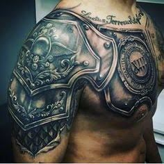 Image Result For Chest Armor Tattoo Tattoosformensleeve Armor Tattoo Shoulder Armor Tattoo Body Armor Tattoo