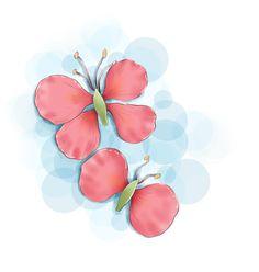 Butterflies was made from summer flower