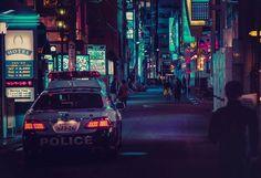 Strade di notte a Tokio. Fotografie dal Giappone.