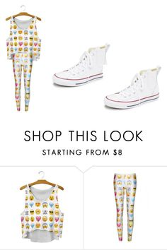 """""""day"""" by caitlan-arnold ❤ liked on Polyvore featuring WithChic and Converse"""