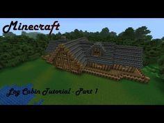 Minecraft Mansion Tutorial - Log Cabin - Part 1