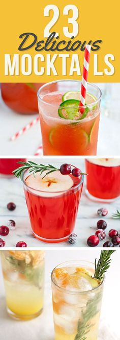 All the fun without the alcohol. Mocktails.