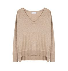 Knit sweater with V neckline