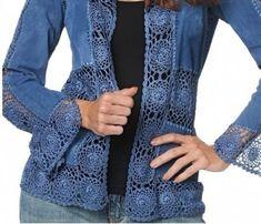 DIY Comment coudre un Kimono en 1 heure - Her Crochet Crochet Coat, Crochet Fabric, Crochet Quilt, Crochet Jacket, Crochet Cardigan, Love Crochet, Crochet Clothes, Diy Clothes, Lace Jacket