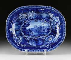 A GROUP OF FORTY-EIGHT PIECES OF STAFFORDSHIRE BLUE AND - 2