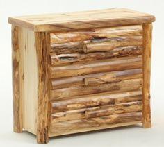 Nice Aspen Chest Of Drawers   3 Drawer   Item # COD05420   4 Or 5 Drawer ·  Rustic Log FurnitureChest Of DrawersJohnny AppleseedAspenDresser ...