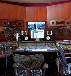 Will Smith's in-home recording studio