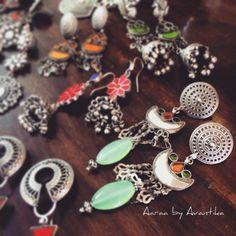 Ethnic silver earrings from Aaraa by Avantika, coming soon