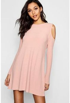 15f4a84e141a8 online shopping for Lily Cold Shoulder Soft Rib Knit Swing Dress from top  store. See new offer for Lily Cold Shoulder Soft Rib Knit Swing Dress