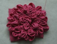 andie johnson sews: Ruched Fabric Flower Tutorial
