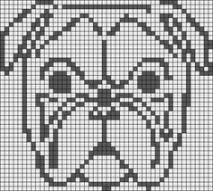 Alpha friendship bracelet pattern added by puppydog. Filet Crochet Charts, Knitting Charts, Cross Stitch Charts, Cross Stitch Patterns, Knitting Patterns, Beading Patterns, Embroidery Patterns, Dog Chart, Knitted Mittens Pattern