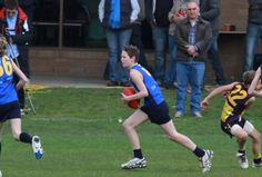 This is a photo of me in a football grand final for the Corner Inlet Stingrays Under 13s, We won!