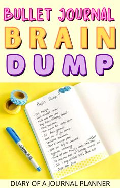 Get your mind organized with this guide to bullet journal brain dump pages! #bulletjournalpages #Braindump Best Daily Planner, Daily Planners, Bullet Journal Hacks, Bullet Journal Printables, Doodle Inspiration, Bullet Journal Inspiration, Brain Dump, Start Writing, Journal Pages