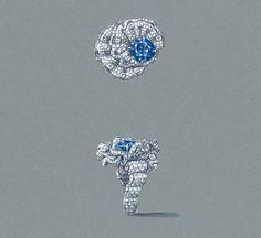 Archi Dior Corolle Soir Saphir Ring