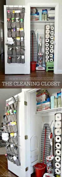 The Cleaning Closet :: 20 Clever Kitchen Organization Ideas