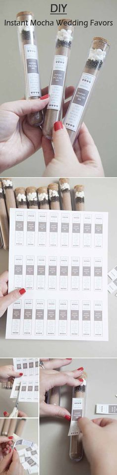 Instant Mocha Mix Favors | 24 DIY Wedding Favor Ideas