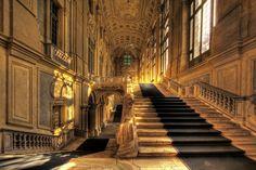 La scalinata di Palazzo Madama, a Torino
