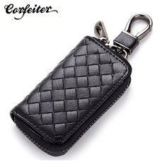 2017 new arrival men Key bag genuine Leather car key holder knitting pattern women key wallet 86#