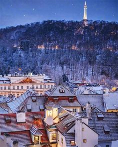 There is usually some snow in Prague before Christmas and then again in January, February, and even March, but every Prague winter is different. World Travel Guide, Travel Guides, Prague Winter, Visit Prague, Prague Czech Republic, Paris Skyline, Travel Destinations, February, Snow
