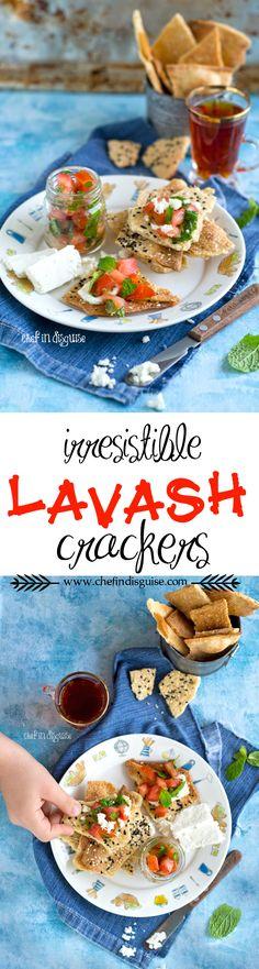 Irresistible rosemary sea salt and seeds lavash crackers