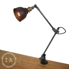 Vintage Industrial O. Desk Lamp, Table Lamp, Work Desk, Work Surface, Vintage Industrial, Arms, Lighting, Antiques, Etsy