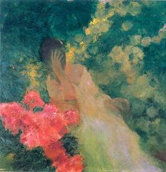 ⊰ Posing with Posies ⊱ paintings of women and flowers - Gaston de La Touche | In the Garden