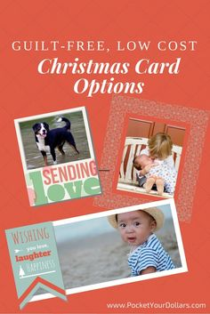 Here is everything you need to make nice holiday cards, but dirt cheap. www.pocketyourdollars.com