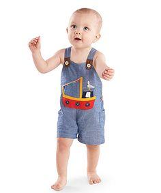 Mud Pie Baby Boys Suspender Short Set 1012161