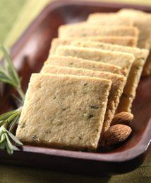 Almond flour rosemary crackers. These are so healthy and taste like bread from Macaroni Grill.
