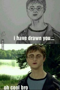 Drawing Harry Potter...