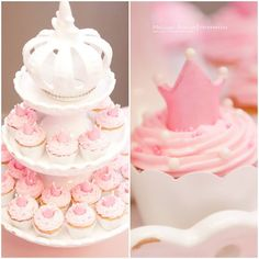 Baby Shower Princess, Princess Party, Princess Diana, Cupcakes Lindos, Baby Shawer, Sweet Bakery, Candy Buffet, Baby Party, Holidays And Events