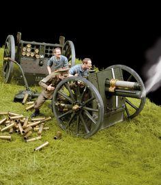 54mm 13 Pounder gun 1/35 Scale Model Diorama
