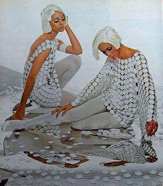 1960s MOD WOMEN FASHION PHOTO Women's Wear VINTAGE OP ART 1966 by Christian Montone, via Flickr