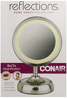 Conair Double-Sided Lighted Mirror, Satin Nickel Finish -- Check this awesome product by going to the link at the image.