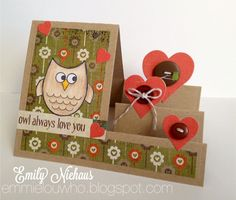 Hello, My Friends!Did you see we now have Owl dies to go with our very popular owls2love set?Have you seen the owls2love gallery? Oodles of samples can be found here: http://www.stephaniebarnardstamps.com/gallery/thumbnails.php?album=56by Emily Niehaus by Laura Williams by Frances ByrneHappy Stampi