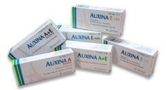 AUXINA A+E. Cápsulas indicadas para tomar vía oral en casos de déficit de vitaminas A+E.   Hay personas que usan las píldoras de forma tópica para hacer una corta cura contra el rostro apagado en invierno.  Vitamina A (retinol): combate la sequedad cutánea y las arrugas que ésta ocasiona. Suave exfoliante.  Vitamina E (tocoferol):  antienvejecimiento, nutritiva. Pendiente.