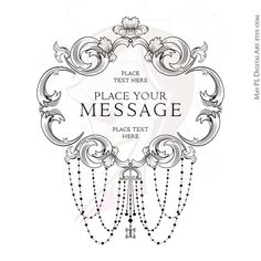 Formal Event Wedding Elegance Leaf Swirl Border Chandelier Frame Clip Art by MayPLDigitalArt, part of a 9 piece set, $6.90 #Formal #Event #Wedding #Elegance #Leaf #Swirl #Border #Chandelier #Frame #Clipart
