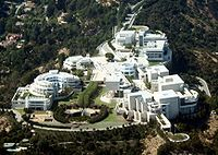 The Getty Center, Santa Monica, California. If you ever in the area make a day to go to the Getty, the museum collection is beautiful and the Building is exquisite.