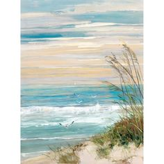 Maillot de bain : Look what I found on Beach Scene Wrapped Canvas This Beach Scene Wrapped Canvas by Courtside Market is perfect! Artissimo Designs Beach At Dusk Hand Embellished Canvas - Canvas Wall Decor Shop for Portfolio Canvas Decor Beach at Dusk Can Canvas Wall Art, Watercolor Art, Art Painting, Beach Painting, Painting Prints, Canvas Art, Abstract, Beach Art, Canvas Painting