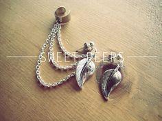 Silver Ear Cuff Set Falling Leaves by sweetpeepshere on Etsy, $12.00