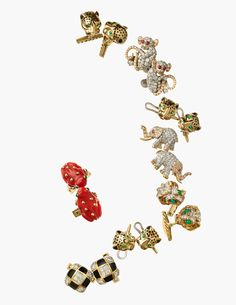 David Webb often took inspiration from the natural world and created jewels in the form of frogs, tigers, monkeys and elephants.