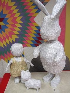 Paper Mache Figures - jut a picture, but good form to keep in mind